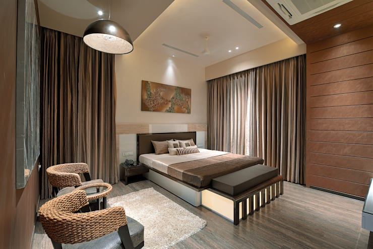 A villa in udaipur - india:  Bedroom by FORM SPACE N DESIGN ARCHITECTS