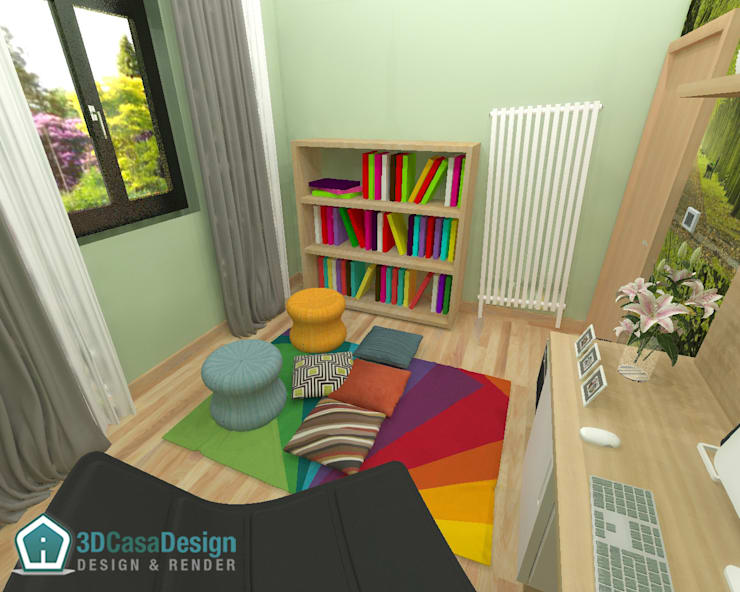 modern Study/office by 3d Casa Design