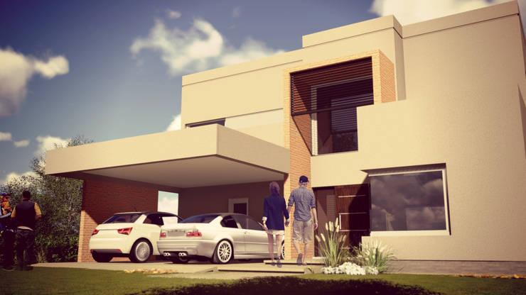 Proyecto Vivienda Unifamliar: Casas de estilo  por Alejandro Acevedo - Arquitectura