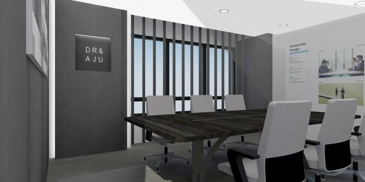 법무법인 대륙아주 강남오피스 리모델링: Architects H2L의  서재 & 사무실