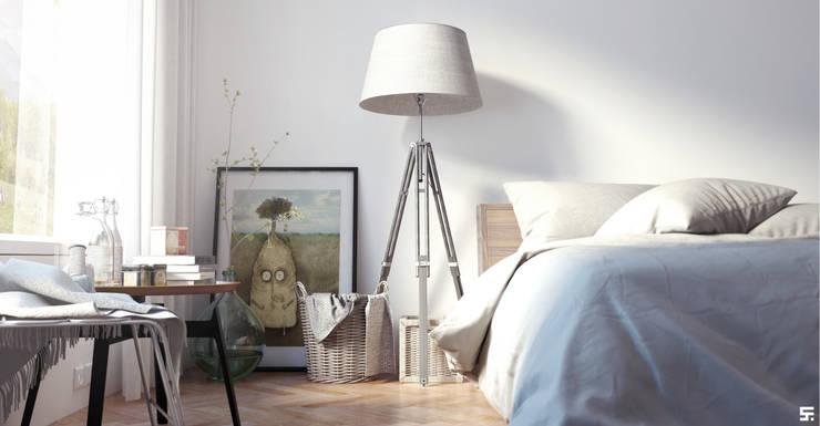 Mañanas en el sur: Dormitorios de estilo  por SF Render