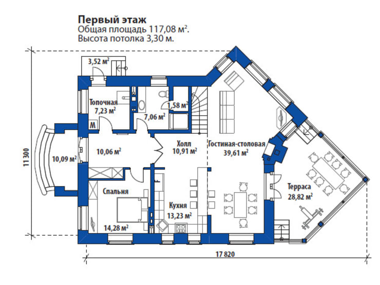 Тиффани_219 кв.м.:  в . Автор – Vesco Construction