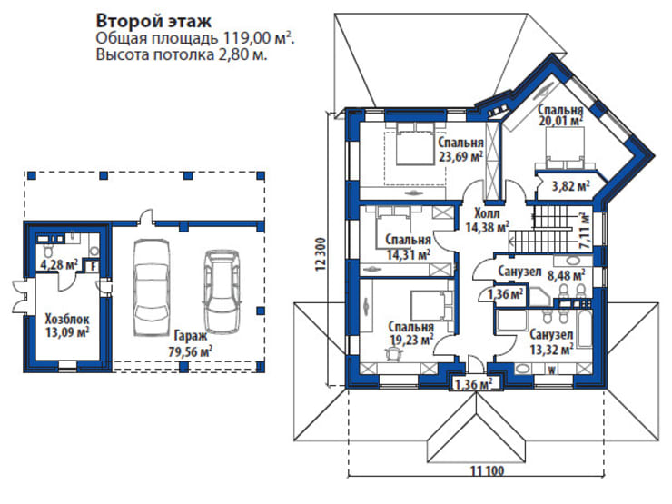 Гарант М_263 кв.м.:  в . Автор – Vesco Construction