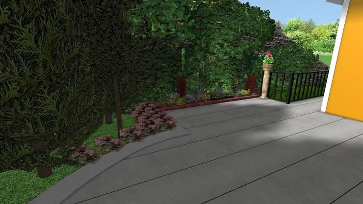 AYTÜL TEMİZ LANDSCAPE DESIGN – BEBEK VİLLA - PEYZAJ PROJE // BEBEK VILLA - LANDSCAPE PROJECT:  tarz Bahçe, Modern