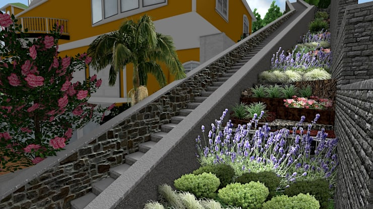 AYTÜL TEMİZ LANDSCAPE DESIGN – BEBEK VİLLA – PEYZAJ PROJE // BEBEK VILLA – LANDSCAPE PROJECT:  tarz Bahçe, Modern
