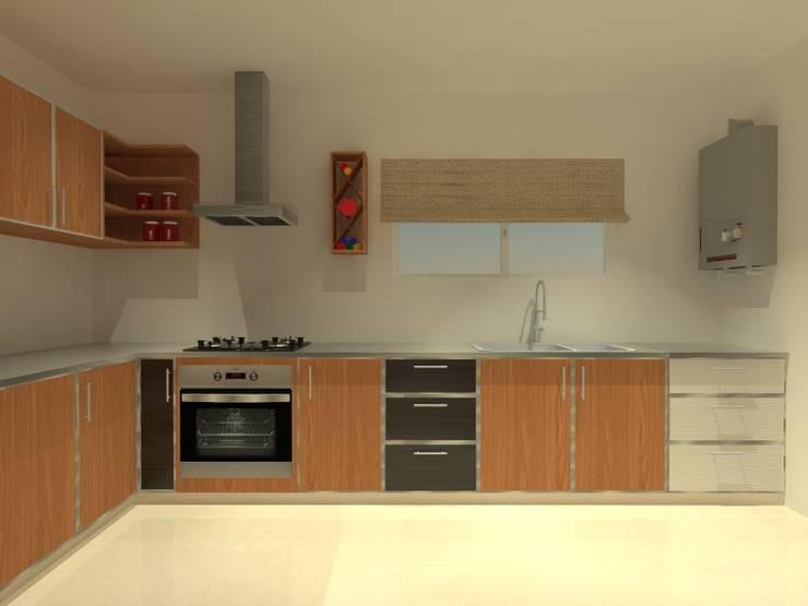 Muebles de Cocina - Bariloche: Cocinas de estilo  por ER Design.    @eugeriveraERdesign
