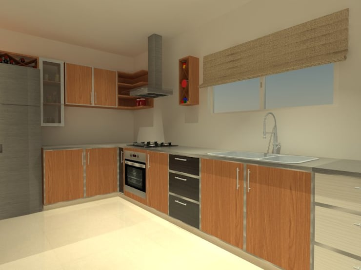 Muebles de Cocina – Bariloche: Cocinas de estilo  por ER Design.    @eugeriveraERdesign