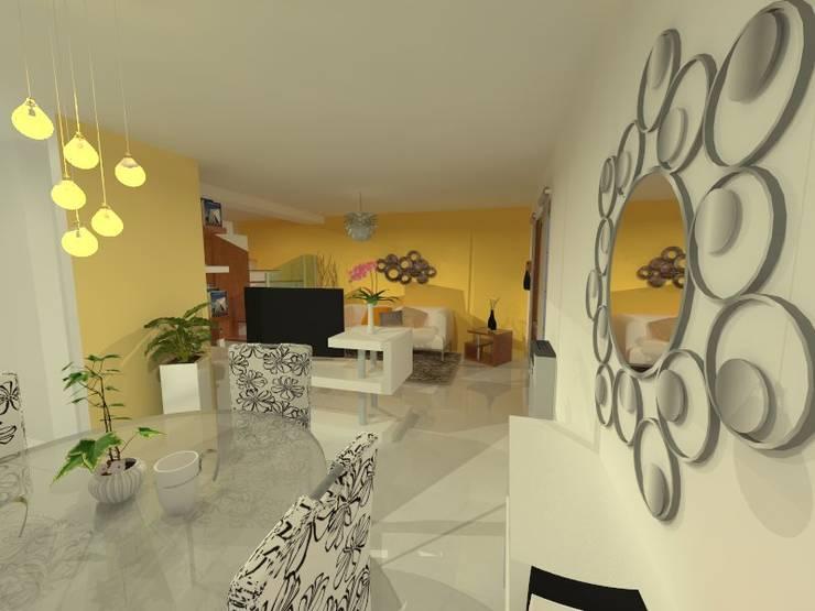 Duplex - Altos del Suquía: Comedores de estilo minimalista por ER Design.    @eugeriveraERdesign