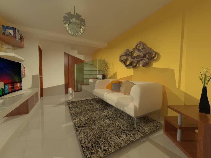 Duplex - Altos del Suquía: Livings de estilo minimalista por ER Design.    @eugeriveraERdesign