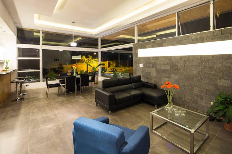 Salas de estar modernas por J-M arquitectura