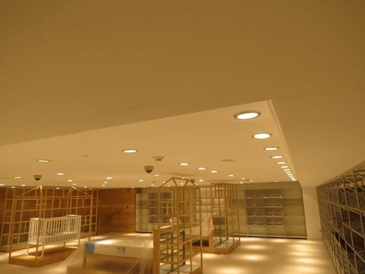 Cielos Zara Home: Oficinas y Tiendas de estilo  por Analema Construccion y Acabados, Moderno