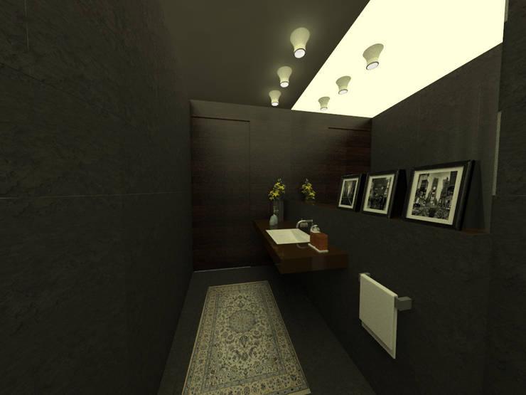 Sanitarios de visita: Baños de estilo moderno por Tres en uno design