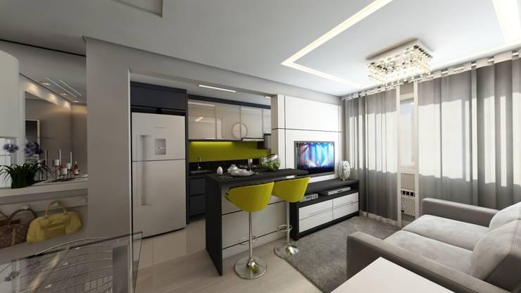 Cocinas de estilo moderno por Débora Pagani Arquitetura de Interiores