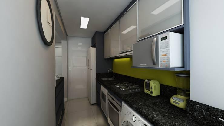 Cozinha: Cozinhas modernas por Débora Pagani Arquitetura de Interiores