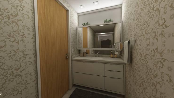 Banheiro: Banheiros modernos por Débora Pagani Arquitetura de Interiores