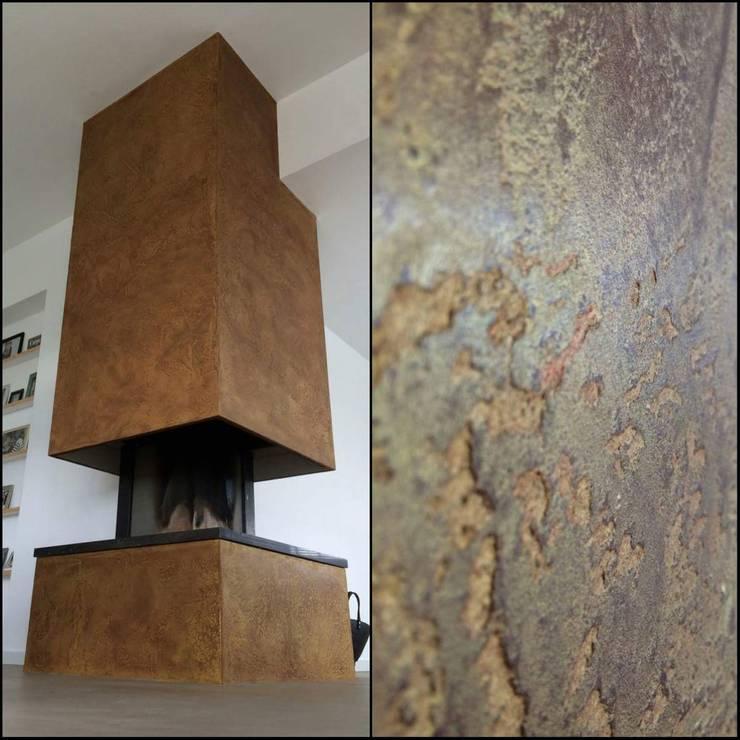 cortenstaal imitatie / rust:   door Wicked Walls, Industrieel IJzer / Staal