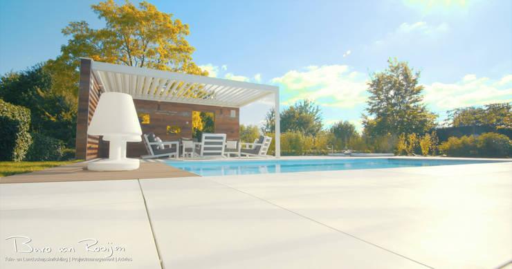 Poolhouse:  Tuin door Buro van Rooijen, Modern