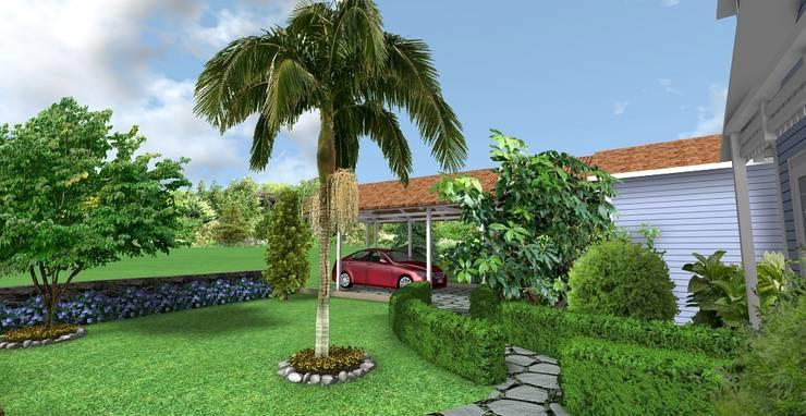 AYTÜL TEMİZ LANDSCAPE DESIGN – SUN FLOWER - VİLLA PEYZAJ PROJE // SUN FLOWER VILLA - LANDSCAPE PROJECT:  tarz Bahçe, Modern