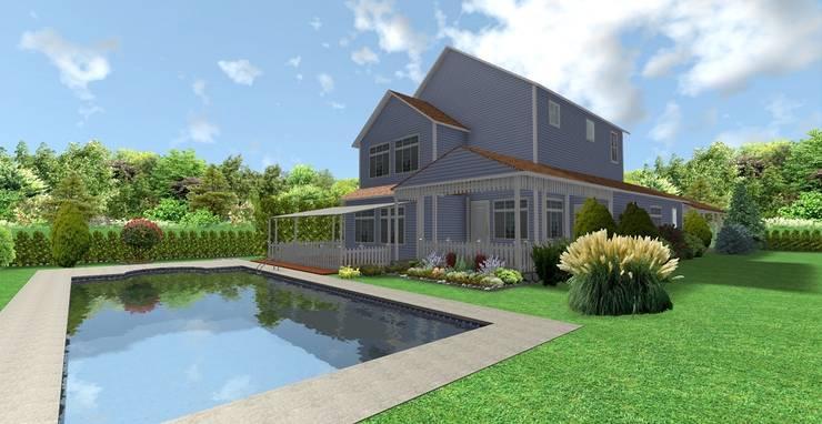 AYTÜL TEMİZ LANDSCAPE DESIGN – SUN FLOWER – VİLLA PEYZAJ PROJE // SUN FLOWER VILLA – LANDSCAPE PROJECT:  tarz Bahçe, Modern