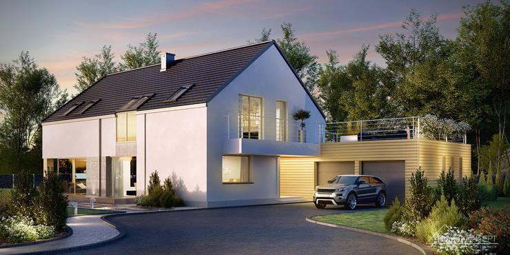 Projekt domu HomeKONCEPT-35: styl , w kategorii Domy zaprojektowany przez HomeKONCEPT | Projekty Domów Nowoczesnych