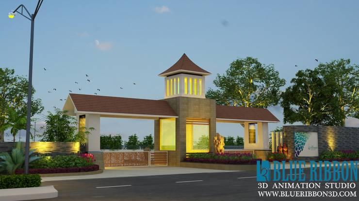 3d exterior render:   by blueribbon 3d animation studio