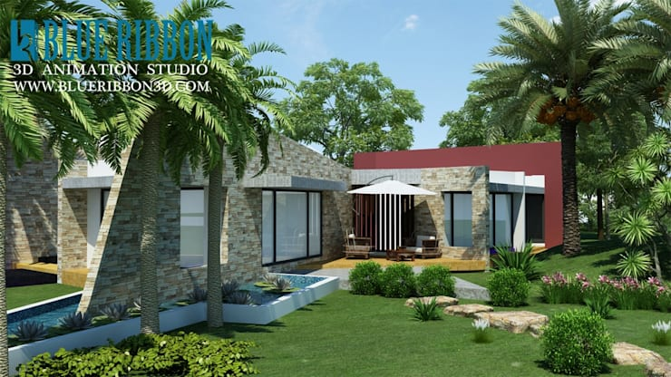 3d exterior render: asian  by blueribbon 3d animation studio,Asian