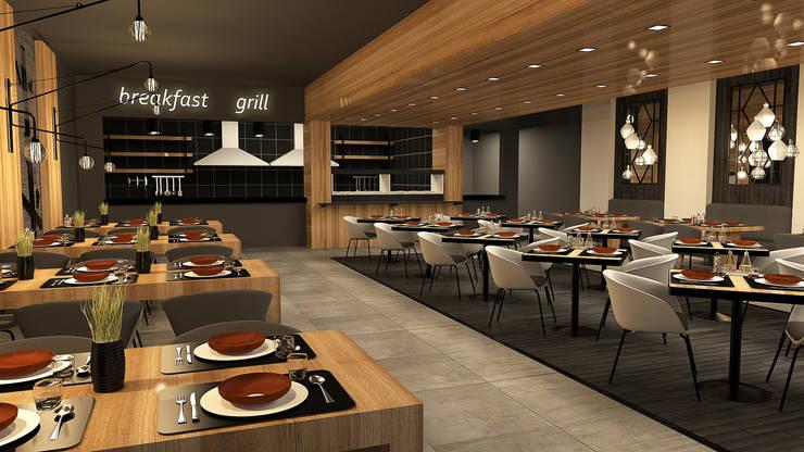 Diff Mimarlık – restoran proje: modern tarz , Modern