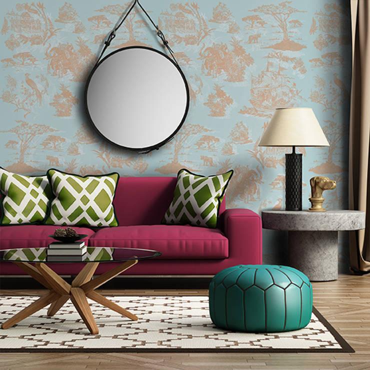 Oh Wallpaper: Salas de estar  por OH Wallpaper