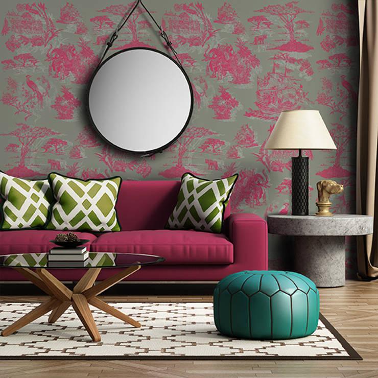 Oh Wallpaper: Salas de estar modernas por OH Wallpaper