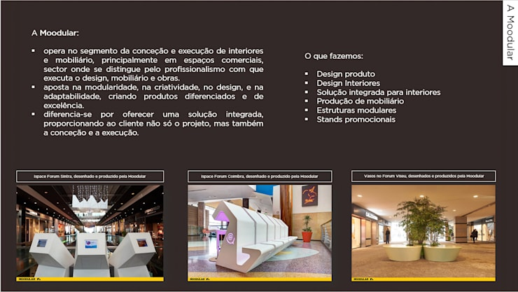 Corian na Moodular: Centros comerciais  por MOODULAR