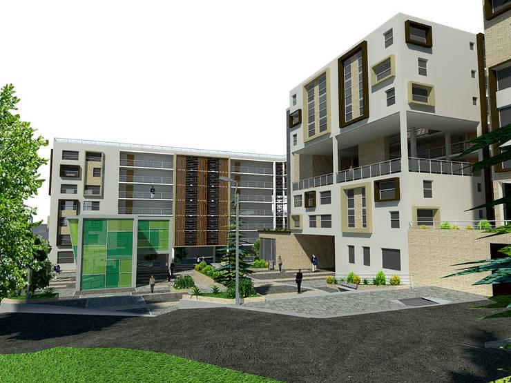 Proyecto San Blas de los cerros <q> vivienda multifamiliar vip</q>: Casas de estilo moderno por JELKH Design Architects s.a.s
