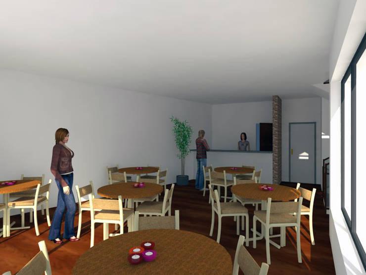 Residência para Estudantes: Escritórios e Espaços de trabalho  por Projectos Arquitectura & 3D,Minimalista