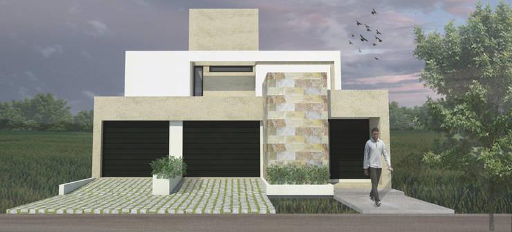 Fachada Principal: Casas de estilo  por MLL arquitecta