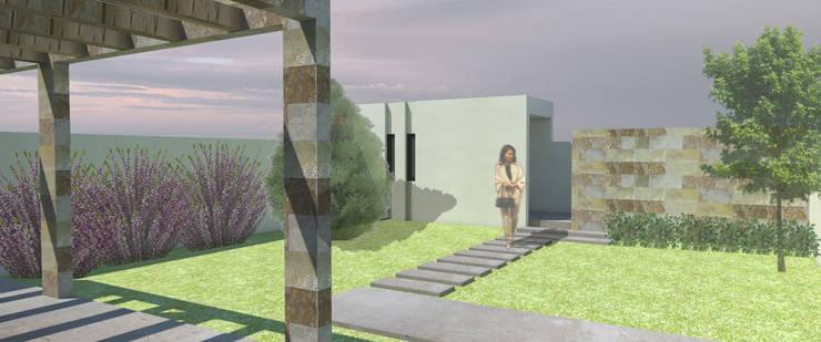 Fachada trasera: Casas de estilo  por MLL arquitecta