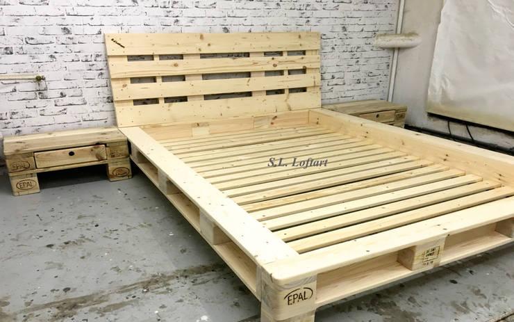 s l loftart das andere palettenbett von s l loftart homify. Black Bedroom Furniture Sets. Home Design Ideas