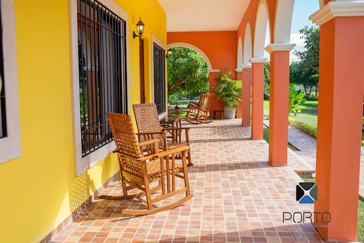 بلكونة أو شرفة تنفيذ PORTO Arquitectura + Diseño de Interiores