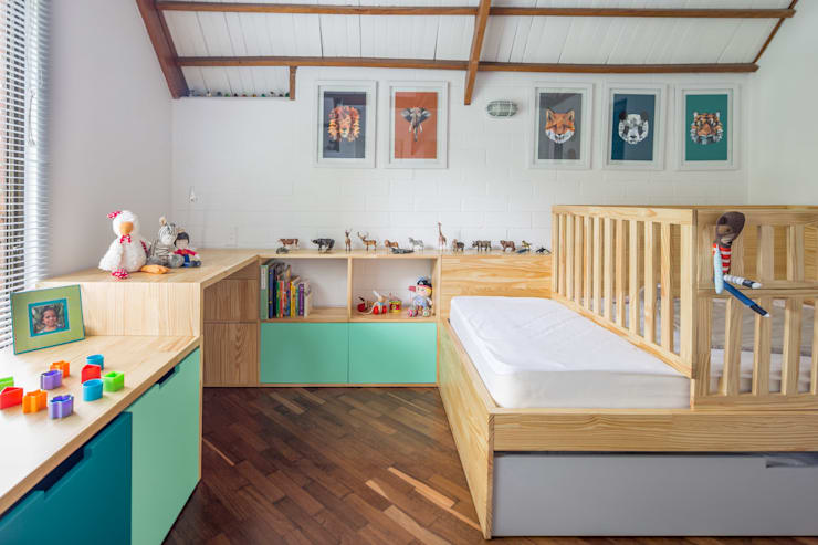 Habitación La Casa : Habitaciones infantiles de estilo  por nomo mobiliario