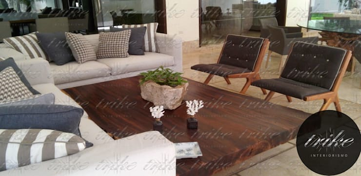 Mesa de centro madera: Hogar de estilo  por Trike Interiorismo