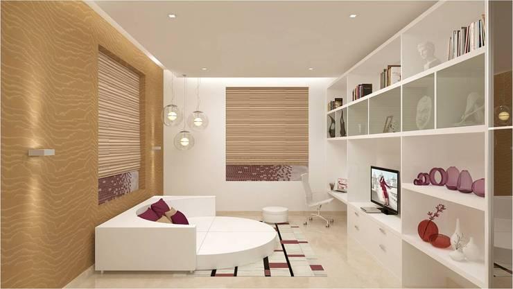 CHAITANYA LA GROVE VILLA, BANGALORE (www.depanache.in) :  Nursery/kid's room by De Panache  - Interior Architects