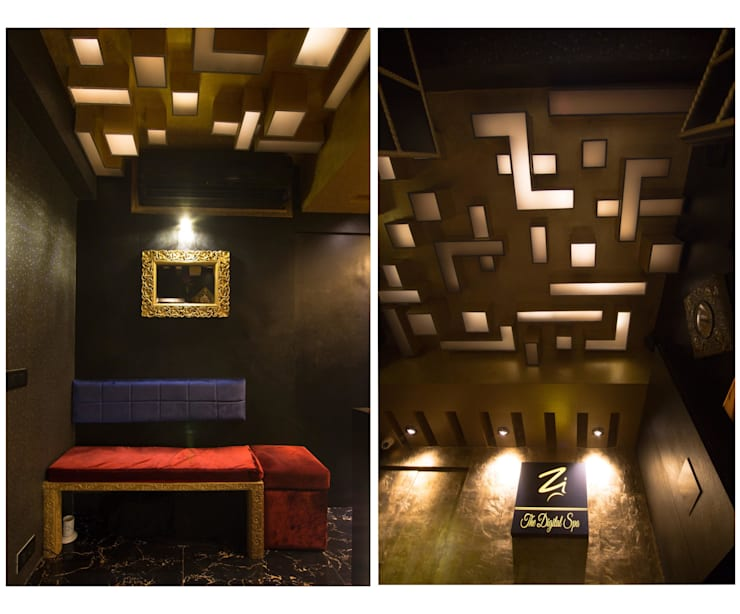 reception & waiting area :  Commercial Spaces by Ishita Joshi Designs - Love Living!,Modern