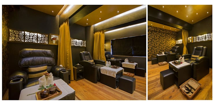 foot spa area:  Commercial Spaces by Ishita Joshi Designs - Love Living!,Modern