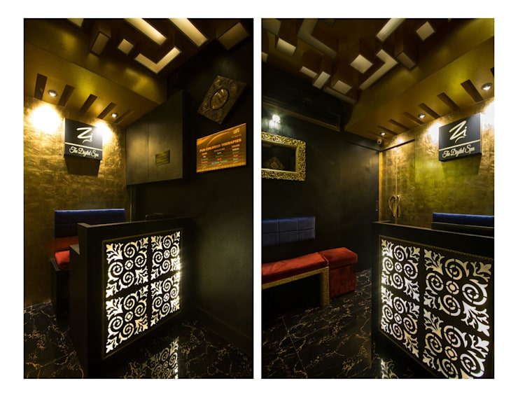 reception lobby:  Commercial Spaces by Ishita Joshi Designs - Love Living!,Modern