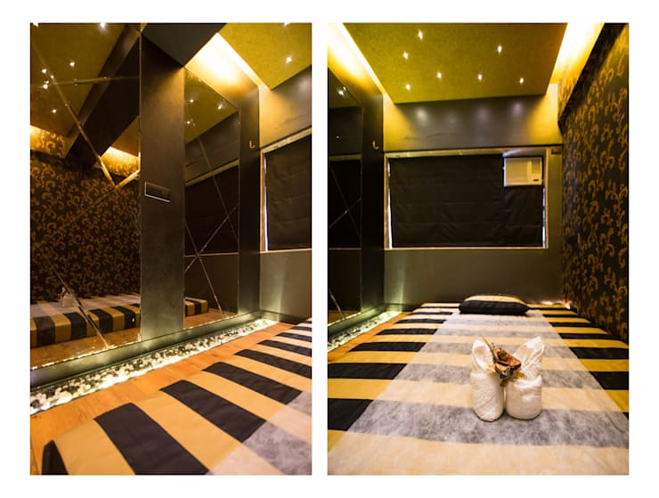body massage :  Commercial Spaces by Ishita Joshi Designs - Love Living!,Modern