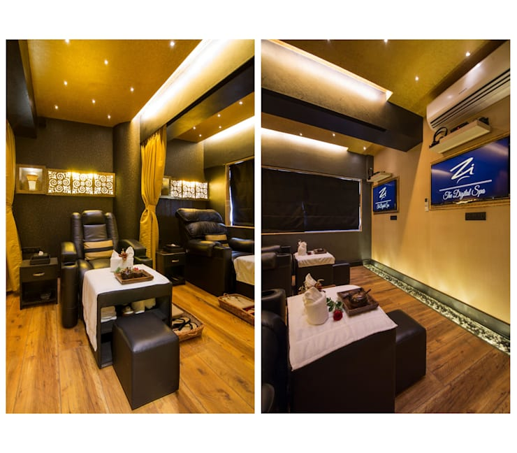 spa & wellness centre :  Commercial Spaces by Ishita Joshi Designs - Love Living!,Modern