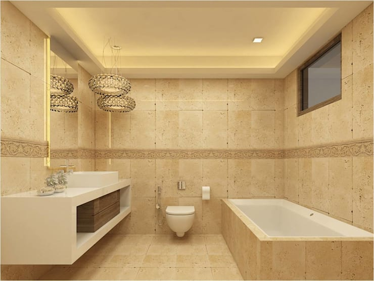 MANTRI ESPANA, BANGALORE. (www.depanache.in):  Bathroom by De Panache  - Interior Architects