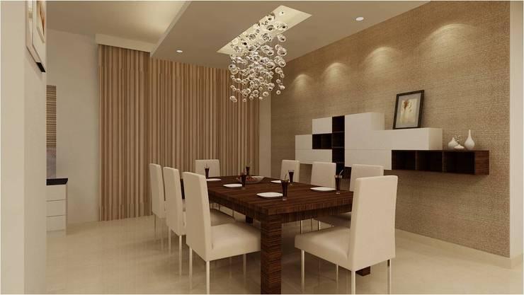 MANTRI ESPANA, BANGALORE. (www.depanache.in):  Dining room by De Panache  - Interior Architects