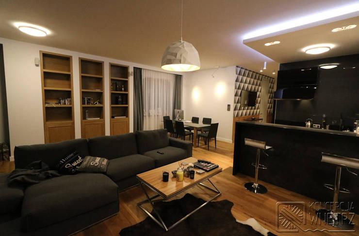 Komfortowe studio: styl , w kategorii Salon zaprojektowany przez Koncepcja Wnętrz