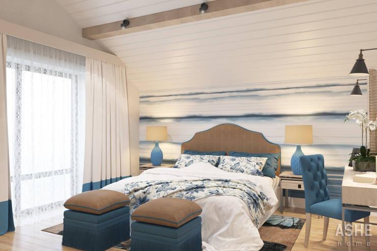 Дизайн интерьера коттеджа: Спальни в . Автор – Студия авторского дизайна ASHE Home