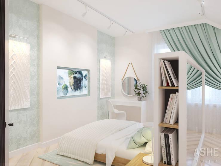 Dormitorios de estilo  de Студия авторского дизайна ASHE Home