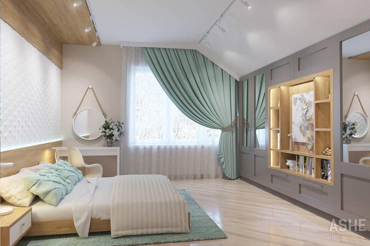 Студия авторского дизайна ASHE Homeが手掛けた寝室